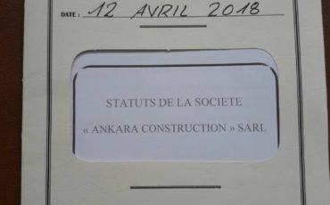Our company named Ankara Construction was formally established in Abidjan, the commercial center of Cote d'Ivore.